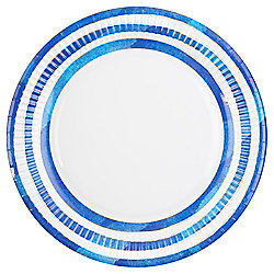 Table Fun White With Blue Stripe Paper Plate, 8 Pack