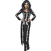Skeleton Tube Dress - Adult Costume Size: 12-14