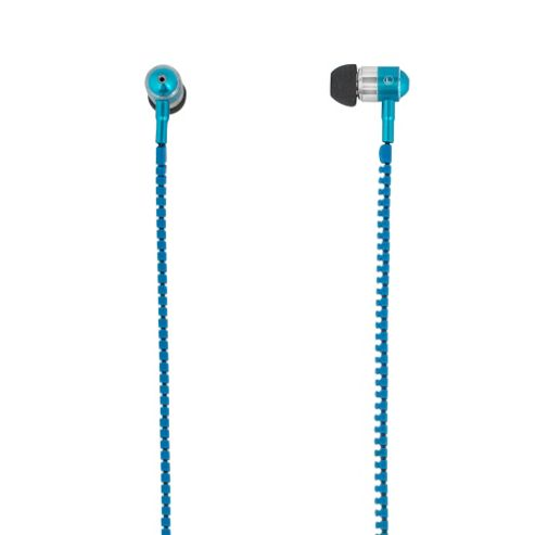 MiTEC Zipper Earphones Blue