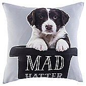 Novelty Hatter Puppy Cushion