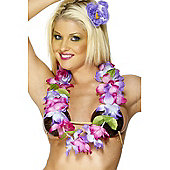 Purple and Pink Large Hawaiian Lei