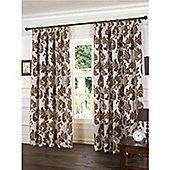 Park Lane Pencil Pleat Curtains 264 x 229cm - Coffee