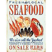 Fresh & Local Seafood Tin Sign