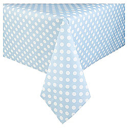 Table Fun Blue With Large White Polka Dot Table Cover