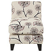 Dandelion fabric accent chair plum