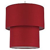 Tesco Lighting Double Drum Shade, Claret
