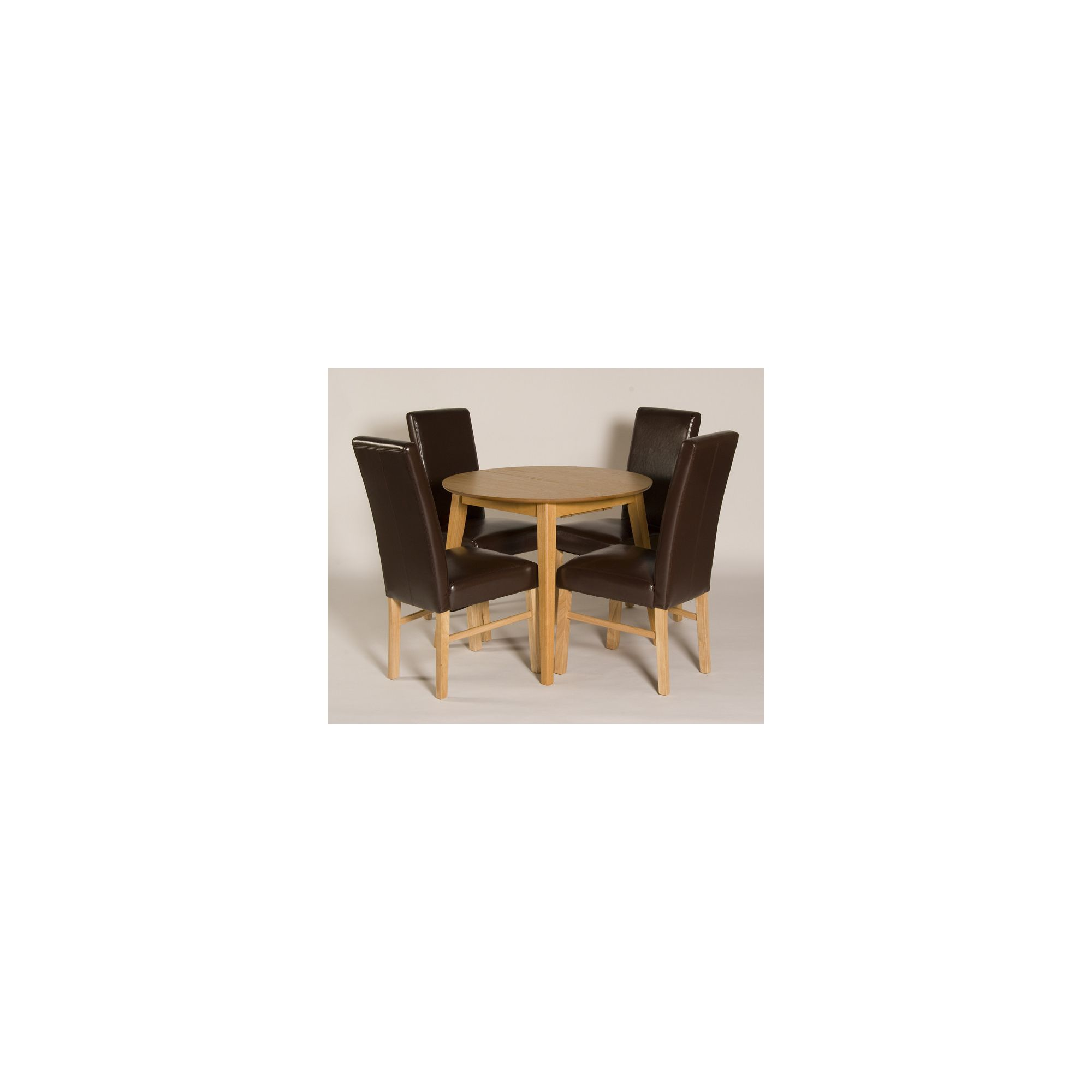 G&P Furniture Devon 5 Piece Round Flip Top Dining Set at Tesco Direct