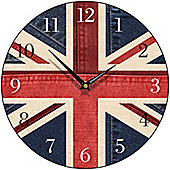 Smith & Taylor Union Jack Denim Round Wall Clock