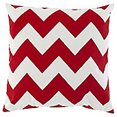 Chevron Cushion 43 x 43cm, Red