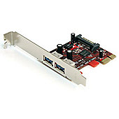 StarTech 2 Port SuperSpeed USB 3.0 PCI Express Card with SATA Power