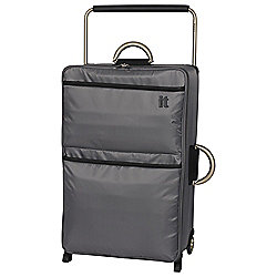 IT Luggage World's Lightest 2-Wheel Suitcase, Charcoal Large
