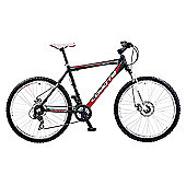 "22"" Coyote Manitoba Mens' Alloy Front Suspension Disc, 21-Speed, Matt Black/White"
