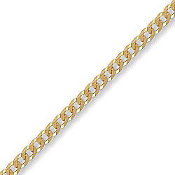 Jewelco London 9ct Solid Gold premium Curb Chain Necklace in 20 inch - 3.6mm gauge