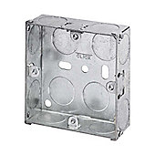 Pack of 20 x 1 Gang 25mm deep galvanised steel Knock Out Box