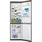 Zanussi ZRB34315XA Frost Free Freestanding Fridge Freezer With SuperFresh Drawer - Grey With Antifingerprint Stainless Steel Door