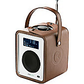 RUARK AUDIO CARRYPACK PROTECTIVE CASE FOR R1 MkII DAB/DAB+/FM ALARM RADIO (TAN LEATHER)