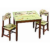 Guidecraft Jungle Table and Chair Set