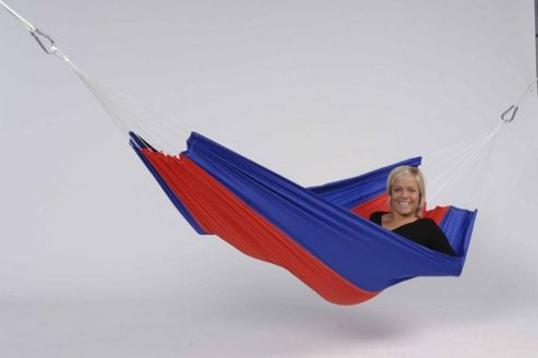 Amazonas Silk Traveller Flower Outdoor Hammock in Red-Blue