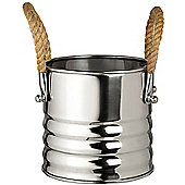 Parlane Silver Milan Bucket With Handles - Cutlery Holder / Plant Pot / Planter