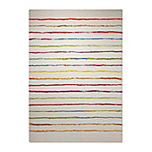 Esprit Joyful Stripes Red Woven Rug - 200 cm x 290 cm (6 ft 7 in x 9 ft 6 in)