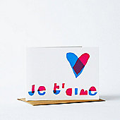 """Yellow Owl Workshop Card - Je T'aime"""