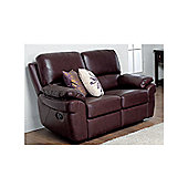 Furniture Link Monzano Two Fixed Seat Sofa - Black