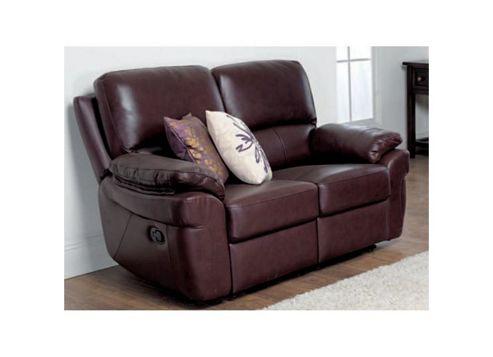 Furniture Link Monzano Two Fixed Seat Sofa - Black