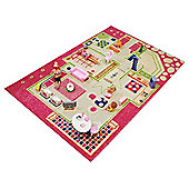 Little Helper 3D Play Mat & Rug Playhouse Theme 100X150Cm