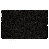 Tesco Soft Shaggy Rug Black 70x130cm
