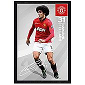 Manchester United Football Club Black Wooden Framed Marouane Fellani MUFC Poster