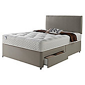 Silentnight Miracoil Luxury Ortho Tuft 4 Drawer King Size Divan Mink with Headboard