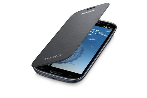 Samsung Original Galaxy SIII Flip Case Silver Grey