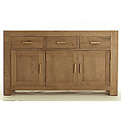 Thorndon Block Three Door Sideboard in Natural Matured Oak
