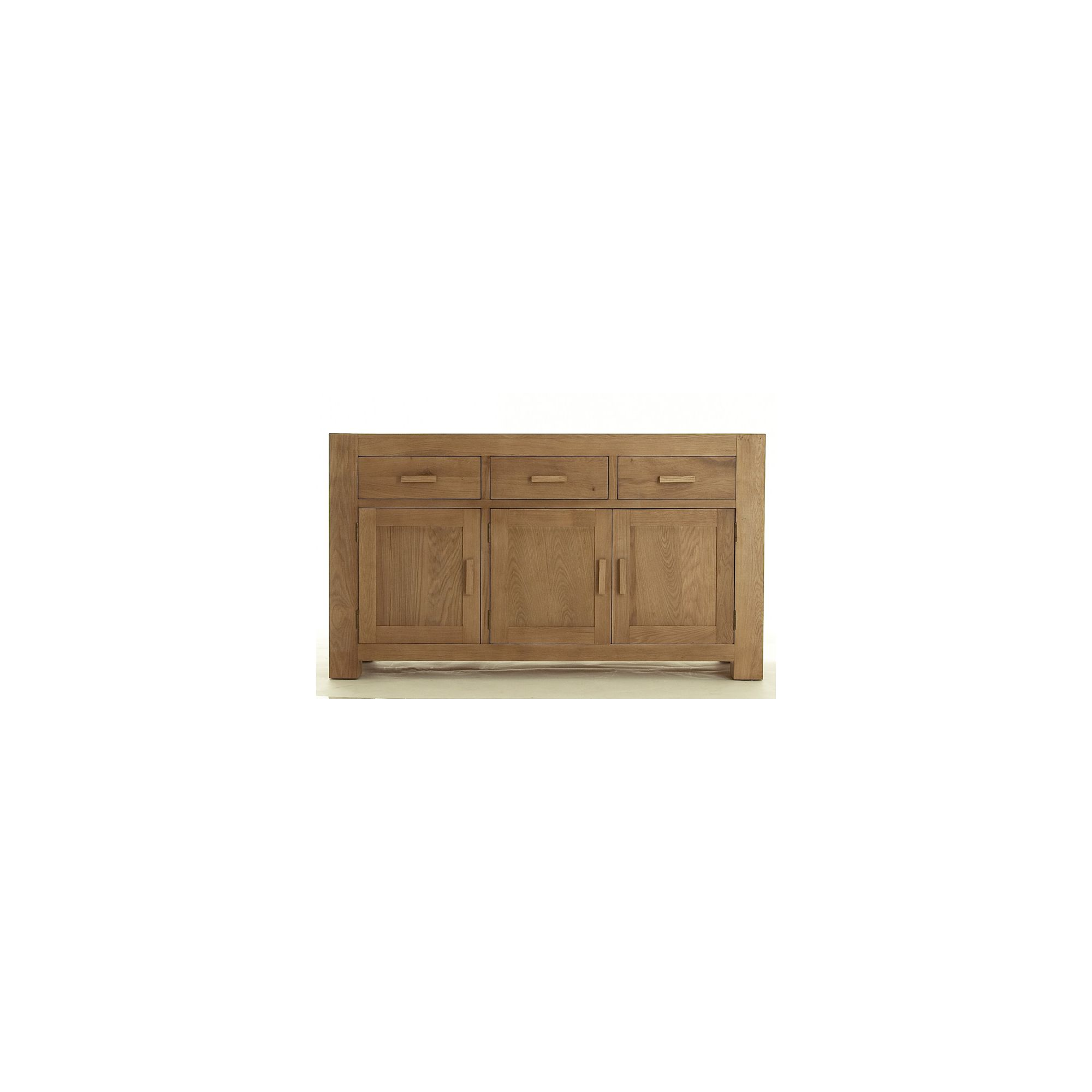 Thorndon Block Three Door Sideboard in Natural Matured Oak at Tesco Direct
