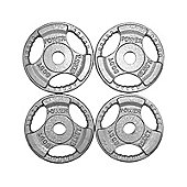 Body Power Standard TRI GRIP Discs 1.25Kg (x4)