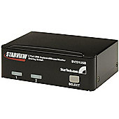 StarTech 2 Port StarView USB KVM Switch Kit with Cables