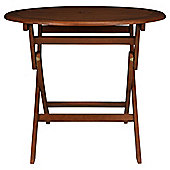 Windsor Wooden Folding  Round Table 90 cm