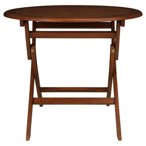 windsor 90cm folding wooden round garden table from our garden tables