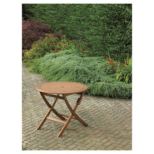 folding wooden round garden table from our garden tables range tesco