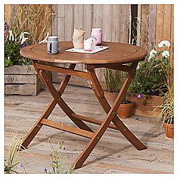 Windsor Wooden Garden Table, Round, 90cm