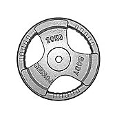 Body Power Standard TRI GRIP Discs 20Kg (x2)