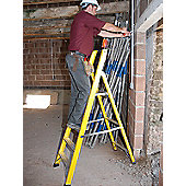 TB Davies Trade GRP Fibreglass 5 Tread Platform Step Ladder