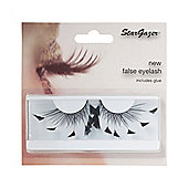 Stargazer False Feather Eyelashes No.60 Black Angled Feathers