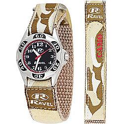 Boys Desert Camouflage Velcro Strap Watch