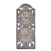 Outside In Westminster Wall Clock and Thermometer 12in