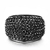 Shimla Unisex Black Crystal Pave Ring SH-086ML