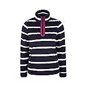 Nessy Stripe Womens Fleece - Blue
