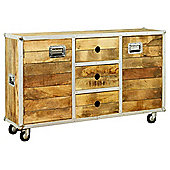 Baumhaus IRC02A Roadie Chic Oak Large Sideboard