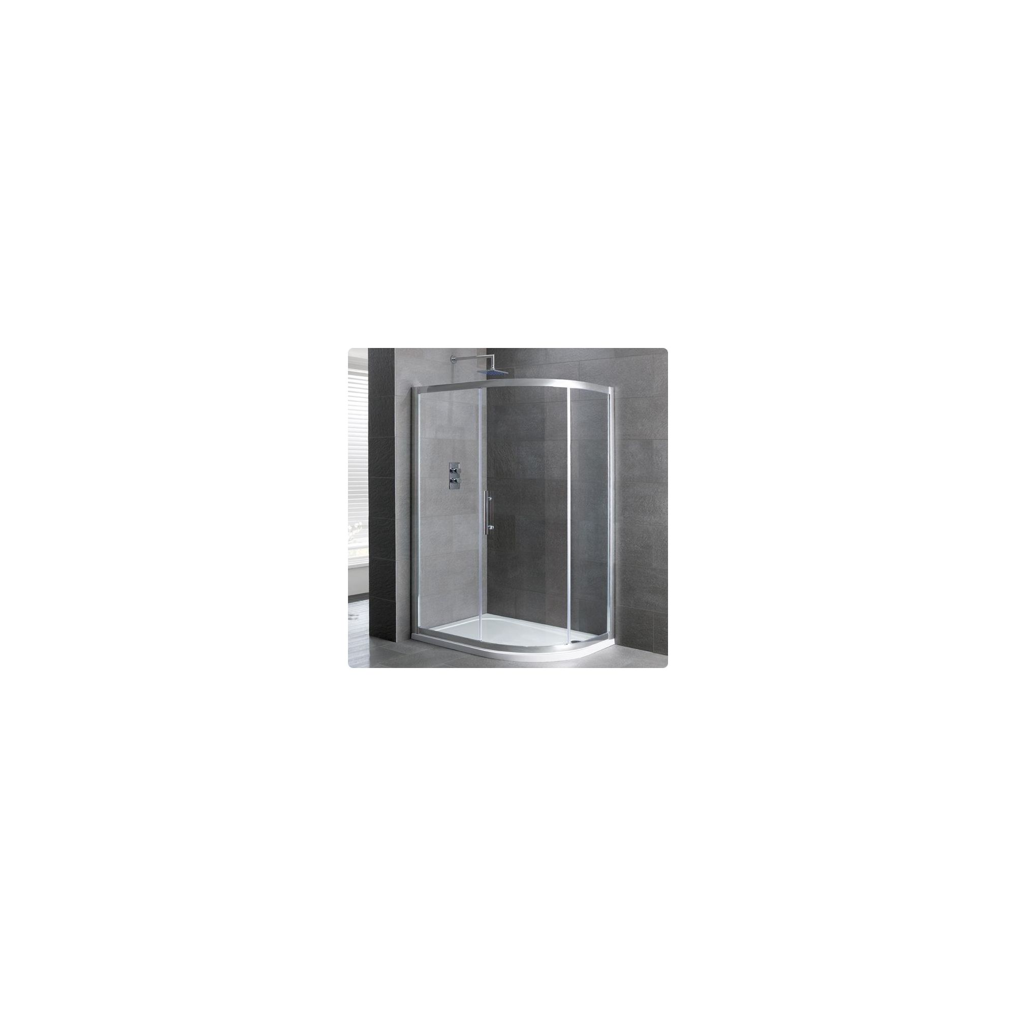 Duchy Select Silver 1 Door Offset Quadrant Shower Enclosure 1000mm x 800mm, Standard Tray, 6mm Glass at Tesco Direct