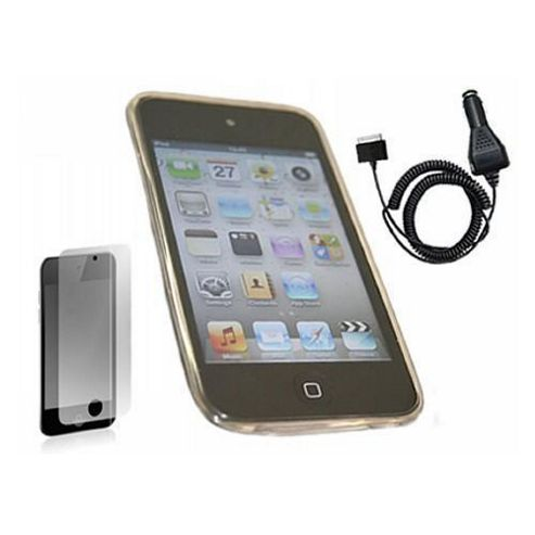 iTALKonline Black WAVE Case, LCD Screen Protector and Car Charger